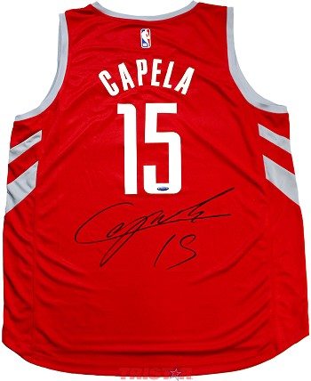 Clint Capela Autographed Houston Rockets Red Replica Jersey
