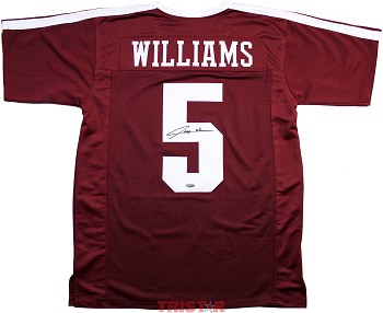 Trayveon Williams Autographed Texas A&M Aggies Custom Jersey