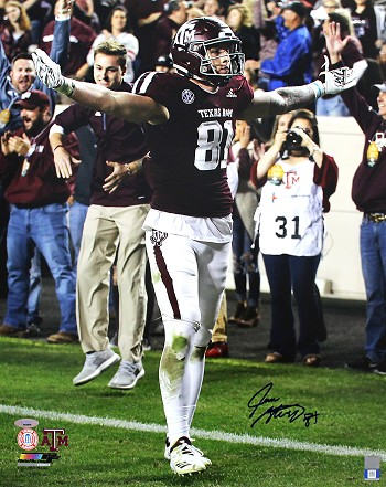 Jace Sternberger Autographed Texas A&M Aggies 16x20 Photo
