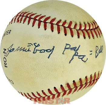 James 'Cool Papa' Bell Autographed Official National League Baseball
