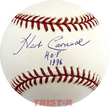 Herb Carneal Autographed Official Major League Baseball Inscribed HOF 1996