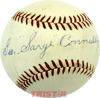 Sarge Connally Autographed Reach Official American League Baseball