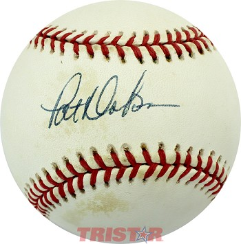 Pat Dobson Autographed Official American League Baseball