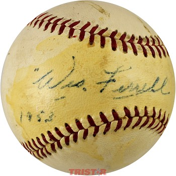Wes Ferrell Autographed Vintage Reach AL Baseball Inscribed 1953