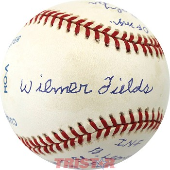 Wilmer Fields Autographed Official AL Baseball Inscribed with His All Time Greats