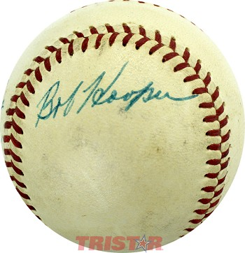 Bob Hooper Autographed Official American League Baseball