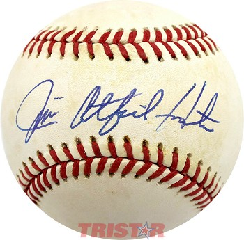 Jim Catfish Hunter Autographed American League Baseball