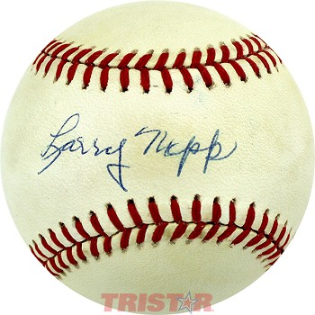 Larry Napp Autographed Official American League Baseball