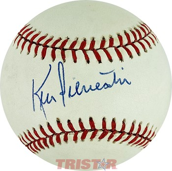 Ken Silvestri Autographed Official National League Baseball