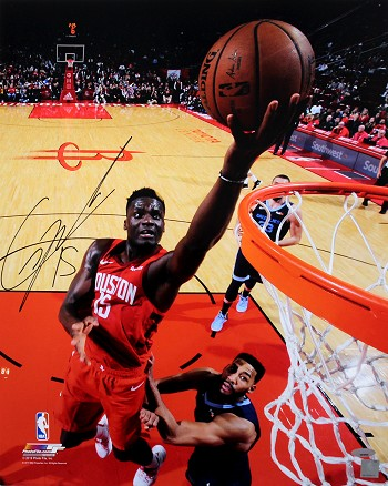 Clint Capela Autographed Houston Rockets Layup 16x20 Photo