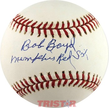 Bob Boyd Autographed Official National League Baseball Inscribed Memphis Red Sox