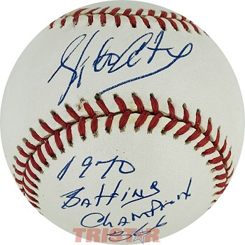 Rico Carty Autographed Official NL Baseball Inscribed 1970 NL Batting Champ