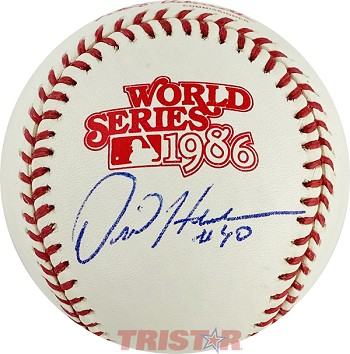 Dave Henderson Autographed 1986 World Series Baseball