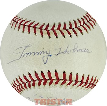 Tommy Holmes Autographed Official NL Baseball Inscribed 1952 NL Champs / Brooklyn