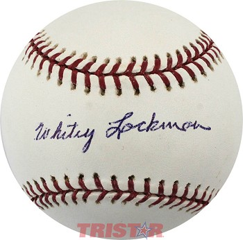 Whitey Lockman Autographed Official Major League Baseball