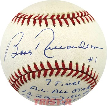 Bobby Richardson Autographed Official American League Baseball Inscribed with Stats