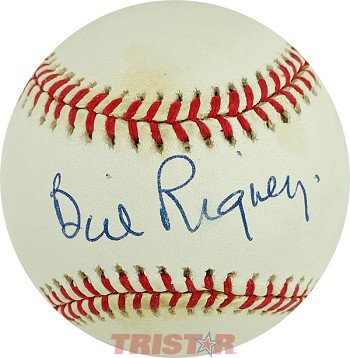 Bill Rigney Autographed Official National League Baseball