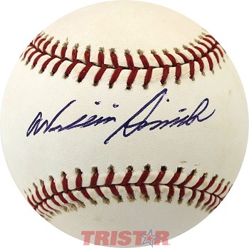 Willie Smith Autographed Official National League Baseball
