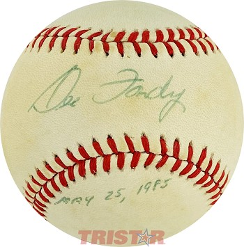 Dee Fondy Autographed National League Baseball Inscribed May 25, 1985