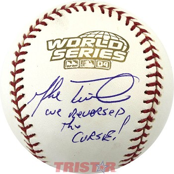 Mike Timlin Autographed 2004 World Series Baseball Inscribed We Reversed the Curse!