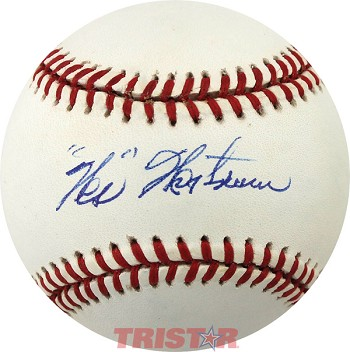 Wes Westrum Autographed Official National League Baseball