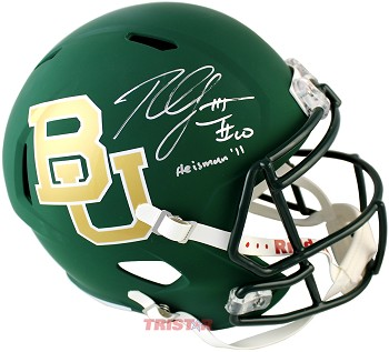 Robert Griffin III Autographed Baylor Bears Full Size Authentic Helmet Inscribed Heisman 2011