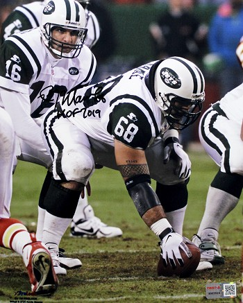 Kevin Mawae Autographed New York Jets 8x10 Photo Inscribed HOF 2019