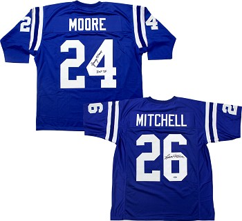 Lenny Moore & Lydell Mitchell Autographed Baltimore Colts Custom Jerseys Combo