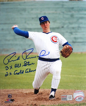 Rick Reuschel Autographed Chicago Cubs 8x10 Photo Inscribed 3x AS, 2x GG