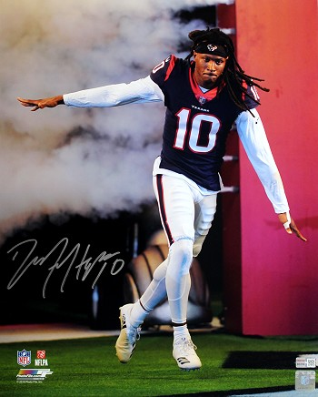 DeAndre Hopkins Autographed Houston Texans Game Introduction 16x20 Photo