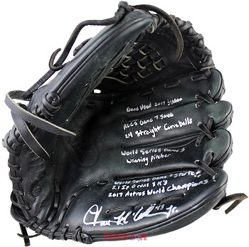 Lance McCullers Jr. Autographed Game Used 2017 Season Wilson Baseball Glove with Inscriptions