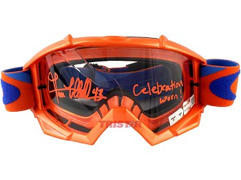 Lance McCullers Jr. Autographed Game Used 2017 Goggles Inscribed Celebration Worn!