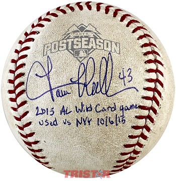 Lance McCullers Jr. Autographed Game Used 2015 Postseason Baseball with Inscription