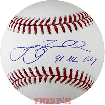 Jeff Bagwell Autographed Official ML Baseball Inscribed 91 NL ROY