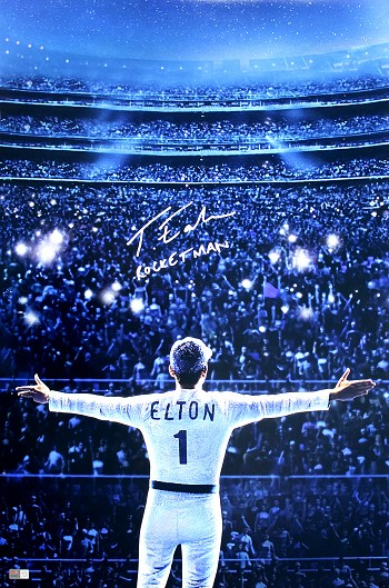 Taron Egerton Autographed 'Rocketman' Movie 20x30 Photo Inscribed Rocketman