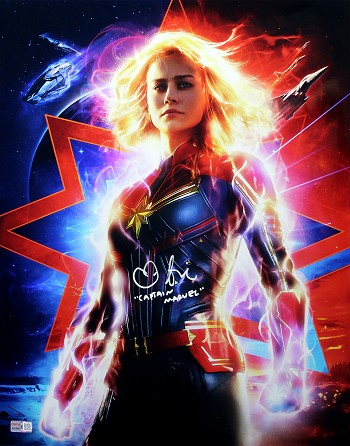 Brie Larson Autographed 'Captain Marvel' 16x20 Photo Inscribed Captain Marvel
