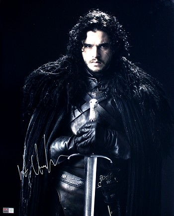 Kit Harington Autographed 'Game of Thrones' Jon Snow with Sword 16x20 Photo