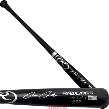 Brett Baty Autographed Rawlings Name Model Blonde Bat