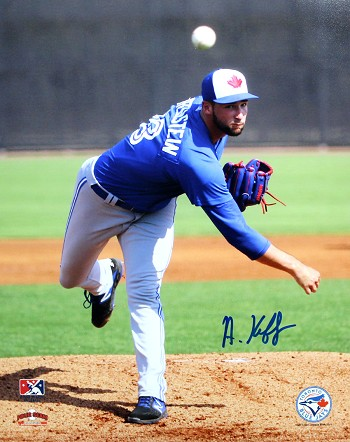 Adam Kloffenstein Autographed Toronto Blue Jays 8x10 Photo