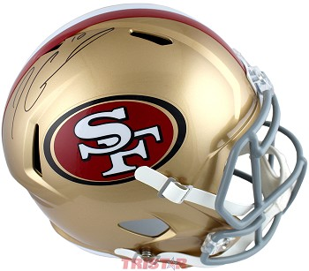 Jimmy Garoppolo Autographed San Francisco 49ers Full Size Replica Speed Helmet