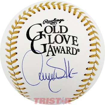 Larry Walker Autographed Official Gold Glove Award Baseball