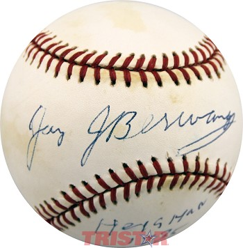 "Jay Berwanger Autographed National League Baseball Inscribed ""Heisman 1935."""