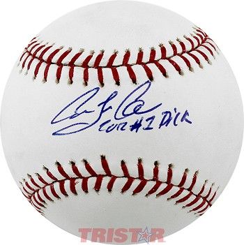 Carlos Correa Full Name Autographed Major League Baseball Inscribed 2012 #1 Pick