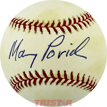 Maury Povich Autographed American League Baseball