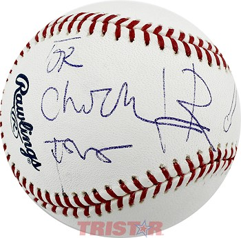 Leon Redbone Autographed Baseball Inscribed To Chuck w/ Bat & Ball Drawing