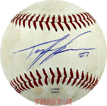 Tyler Skaggs Autographed Official MiLB Southern League Baseball Inscribed 27