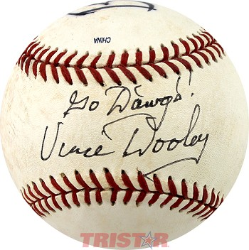 Coach Vince Dooley Autographed Baseball Inscribed Go Dawgs