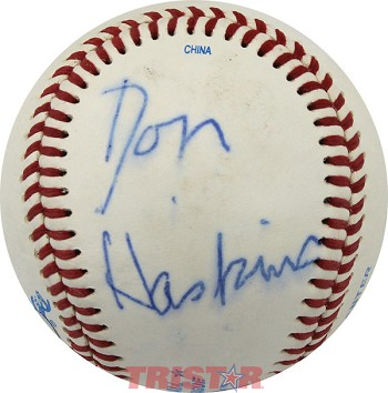 Coach Don Haskins Autographed Official Southern League Baseball