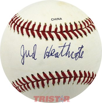 Coach Jud Heathcote Autographed Rawlings Official League Baseball