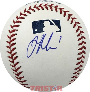 Joe Mauer Autographed Official Major League Baseball Inscribed 7